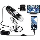 Microscopio Digital USB 40X a 1000X, Bysameyee 8 LED Cámara de endoscopio de Aumento con Estuche y...